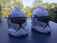 Star Wars Clone Trooper Voice Changer Full Helmet Hasbro 2008 - Two Of Them