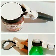 New MULTIPURPOSE POWER GRIP JAR & BOTTLE OPENER ADJUSTABLE Rubber Strap Coke Nut
