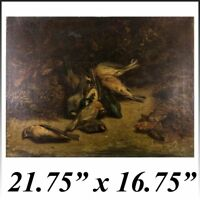 French Oil Painting, Fruits of the Hunt, Artist Signed, dated 1818, no Frame