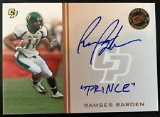 "2009 Press Pass Ramses Barden Autograph Inscribed ""Prince"" RC SP /26 Cal Poly"