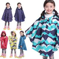 Trench Coat Style Children Raincoat Boys Girl Rain Poncho Waterproof Rainware