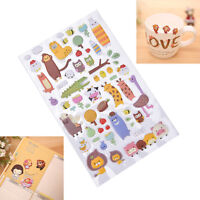 1 Sheet 3D Puffy Bubble Stickers Scrapbook Cartoon Birthday Gift Collection  Pf