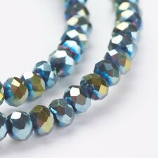 1 strand 4x3mm Faceted Electroplate Glass Beads(about 149 beads)-BB172
