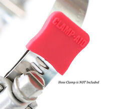 Red Engine Dress up kit hose Clamp end covers by CLAMP-AID for Chevy 350