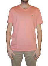 Lacoste hombre manga corta con cuello en V Camiseta Pima Jersey