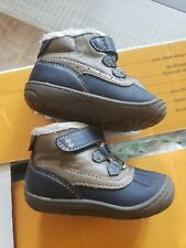 Baby Boys' Surprize by Stride Rite Dean Mini Boots -blue/brown size 4