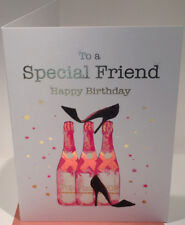 Special Friend Birthday Card - Blank Inside - 7 x 5 Inches - Rush Design