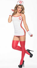 Womens Doctor Nurse Halloween Costume Backless Halter Cosplay Outfit Fancy Dress