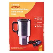 Amtech 12V Heated Travel Mug Car Van Work Coffee Tea Spill Proof