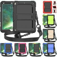 For iPad Mini 1/2/3/4 Air2 Shockproof Heavy Duty Hard Case Cover Shoulder Strap