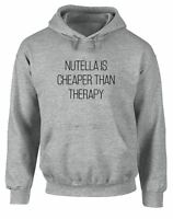 Brand88 - Nutella Is Cheaper Than Therapy, Printed Hoodie