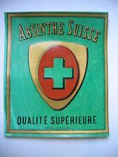 ANCIENNE ETIQUETTE D'ABSINTHE SUISSE - IMPRIMERIE L. MOREL A LYON - TBE -