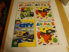 Lego Lot- 4 Books Build Animals Figures City - 8 Boxes(7772 8066 8228 8084 5981)