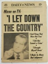 1977 MAY 5 NY DAILY NEWS NEWSPAPER NIXON ON TV: I LET DOWN THE COUNTRY PG 1-128