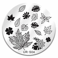Nail Art Stamping Plates Image Plate Decoration Autumn Leaves Leaf Winter Holly