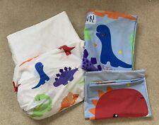Toddler Dinosaur Bedding Set, Fitter Sheet & Waterproof Mattress Protector