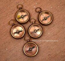 Brass Compass Necklace LOT OF 10  Antique Maritime Item Handmade-LOCKET COMPASS
