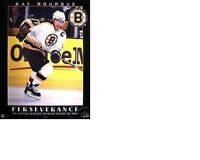 MINT 1998 NO PIN HOLES RAY BOURQUE Perservere BOSTON BRUINS NHL HOCKEY POSTER