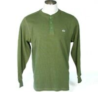 Ecko Unltd Green Long Sleeve Henley Knit Polo Shirt Men's Large L NWT