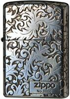 Zippo Classic Arabesque Logo Silver Plating 5-Sides Etching Japan Limited New