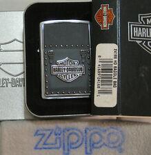 ZIPPO  HARLEY DAVIDSON Lighter  H-D  SADDLE BAG BAR & SHIELD  Emblem  SEALED
