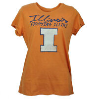 NCAA Illinois Fighting Illini Orange Tshirt Tee Short Sleeve Womens Ladies Sport