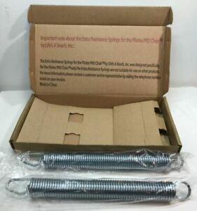 Genuine OEM Set Malibu Pilates Pro Chair Stronger Extra Resistance Springs 11""
