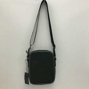 New Ted Baker Crossbody Messenger Bag Black Faux Leather Casual Everyday 301101