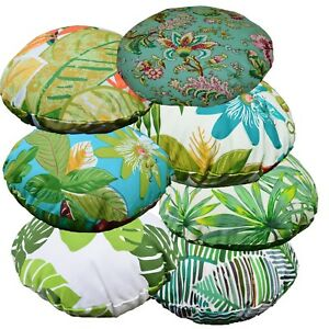 Flat Round Shape Cover*A-Grade Cotton Canvas Floor Seat Chair Cushion Case*Lf5