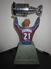 Peter Forsberg Colorado Avalanche Upper Deck UD NHL Stanley Cup Trophy Bust