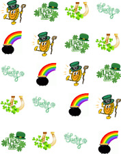 "St (Patty's) Patrick's Day ""LUCKY""  Waterslide Nail Decals/Nail art"