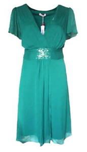 SHEEGO Abendkleid Cocktailkleid smaragd Pailletten GR. 52 NEU - K161