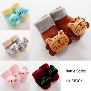 Animal Rattle Socks Baby Soft Sensory Foot Finder Cotton 0-6 Months BRAND NEW UK