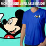 Disney Happy Mickey Mouse in a Pocket Mens Women Unisex Top Tee V-Neck T-Shirt