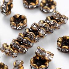 20 un corazón granos del Metal Suave Real De Latón Chapado en Oro Pequeño Mini suelto espaciador 6mm