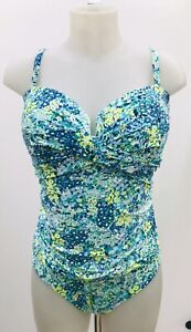 M&S Size 16 Ladies Magic shaping swimsuit  Green Nature Marks and Spencer
