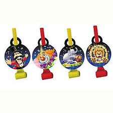 Circus Big Top Party Supplies Blowouts 8pk - Ring Leader, Elephant, Lion & Clown