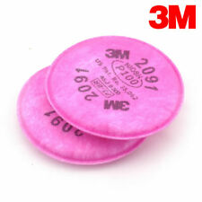 4Pcs=2 packs 3M 2091 particulate filter P100 for 3M 6200/6800/7502 Respirator