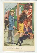 cartolina artistica humor quando la suocera arriva