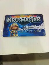 5 x Dofus KROSMASTER Membership Cards.  Brand New!! Unused