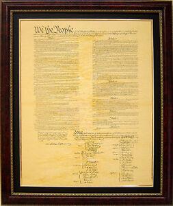 U.S Constitution Document Fine Quality Replica 27x34 Ornate