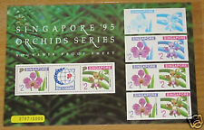Singapore stamps - 1995 World Exh ORCHID proof limited 5000 MNH RARE flowers