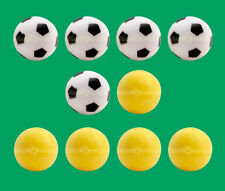 10 Foosballs: 5 Yellow Textured & 5 Black & White Engraved Table Soccer Balls