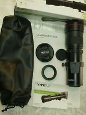 VIVITAR 420-800mm F8 TELEPHOTO ZOOM LENS OUTFIT NEW for CANON FILM CAMERAS