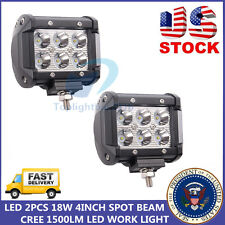 2X 4INCH 18W CREE LED LIGHT BAR 4WD Off-road  FOG CUBE PODS ATV SUV DRIVING SPOT
