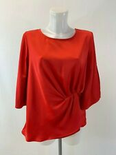 Ladies New Ex M&co Red Satin  Top Size 10 12 14 16 18 20 22 24