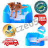 Portable Dog Cat Potty Tray Training Litter Box With Fence Indoor Outdoor Use