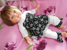 ens neuf robe 3pièces poupée reborn, tinnie,baigneur,antonio juan 40/45 cm