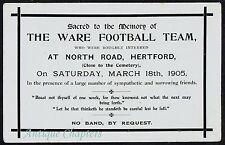 1905 North Rd Hertford Ware FC Equipo De Fútbol Hertfordshire In Memoriam Postal