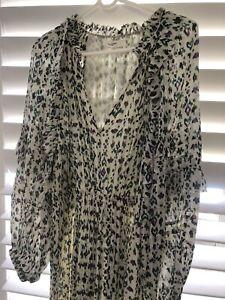 Isabel marant Etoile Chiffon Maxi Dress New